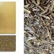 COMPOSIZIONE 21: Base legno 2 pezzi cm 30x50-20, foglia oro e schegge di metallo.